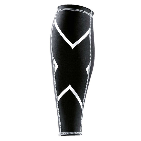 2XU Compression Calf Guards, Black, rebel_hi-res