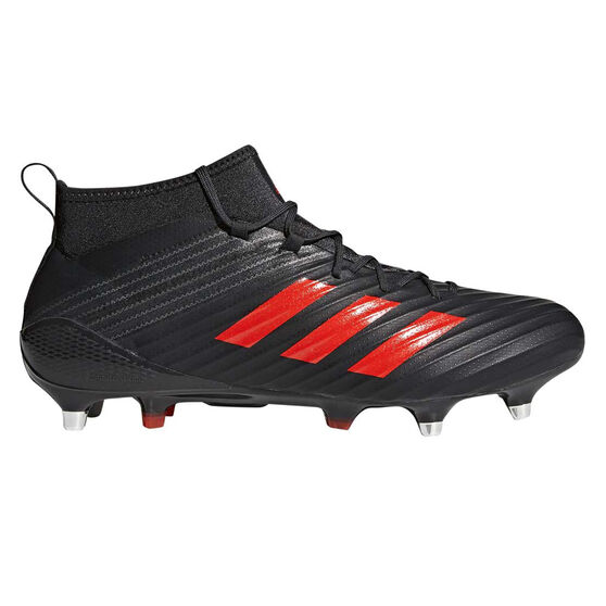 60e754489e74 adidas Predator Flare SG Mens Rugby Boots Brown   Red US 9.5 Adult ...