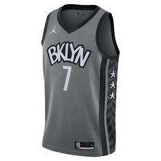 Nike Brooklyn Nets Kevin Durant 2020/21 Mens Statement Edition Swingman Jersey Grey S, Grey, rebel_hi-res