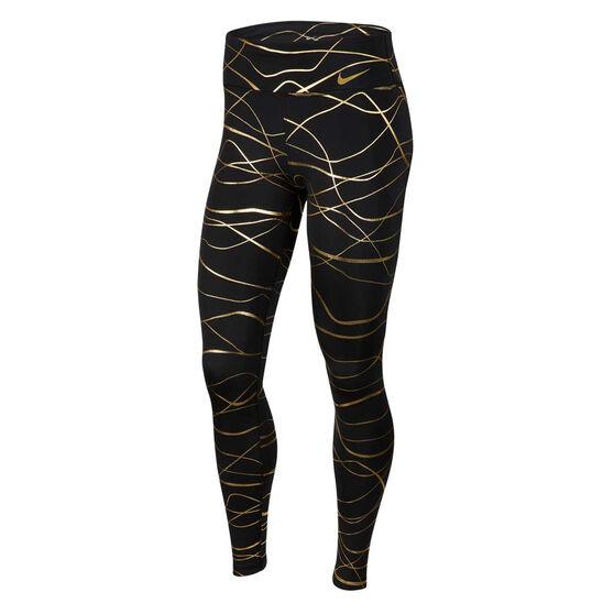 Nike Womens Icon Clash Fast Running Tights, Black, rebel_hi-res