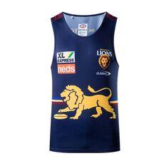 Brisbane Lions 2021 Mens Training Singlet Blue XS, Blue, rebel_hi-res