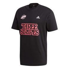 adidas Mens Athletic Graphic Tee Black S, Black, rebel_hi-res