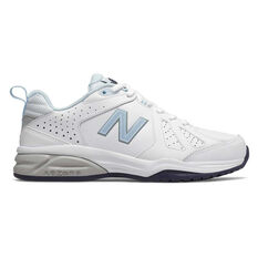 41050979f1655 New Balance 624 V4 D Womens Cross Training Shoes White   Blue US 6