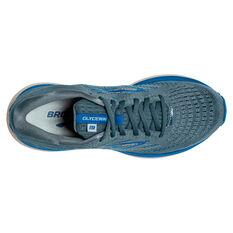 Brooks Glycerin 19 Mens Running Shoes, Grey/Blue, rebel_hi-res