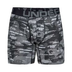 Under Armour Mens Charged Cotton 6in 3 Pack Underwear Green XS, Green, rebel_hi-res
