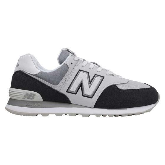 New Balance 574 Mens Casual Shoes, Black/Grey, rebel_hi-res