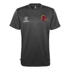 Brisbane Broncos 2021 Kids Performance Tee Grey S, Grey, rebel_hi-res