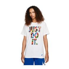 Nike Mens Sportswear Just Do It Worldwide Tee White XS, White, rebel_hi-res