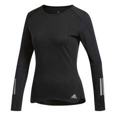 adidas Womens Response Long Sleeve Tee Black XS, Black, rebel_hi-res
