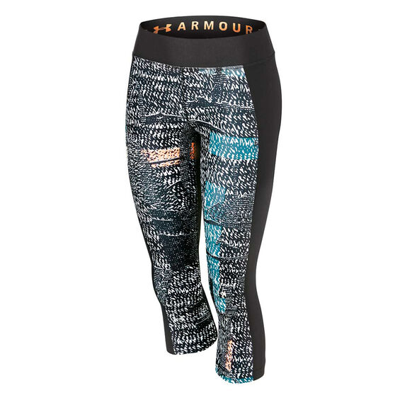 Under Armour Womens HeatGear Armour Printed Tights, , rebel_hi-res
