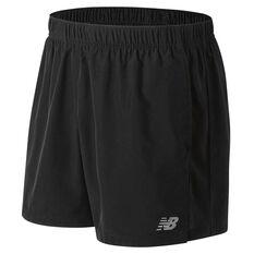 New Balance Mens Accelerate 5in Running Shorts Black S, Black, rebel_hi-res