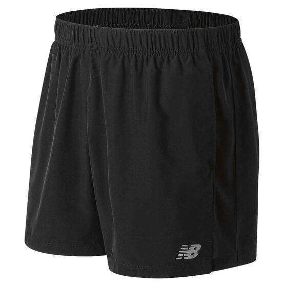 New Balance Mens Accelerate 5in Running Shorts Black X L, Black, rebel_hi-res