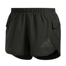 adidas Womens Marathon 20 Rise Up N Run Running Shorts Grey XS, Grey, rebel_hi-res