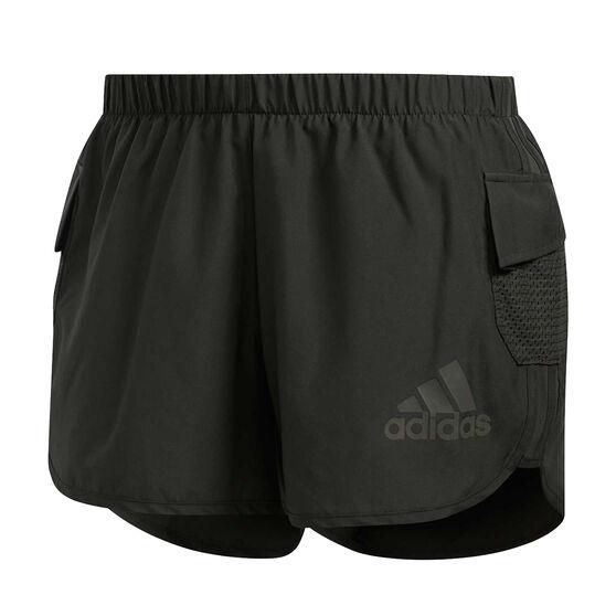 adidas Womens Marathon 20 Rise Up N Run Running Shorts, Grey, rebel_hi-res