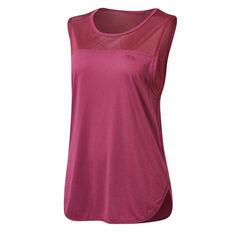 Running Bare Womens Batter Up Tank Pink 8, Pink, rebel_hi-res