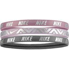 Nike Printed Metallic Headband 3 Pack Multi OSFA, Multi, rebel_hi-res