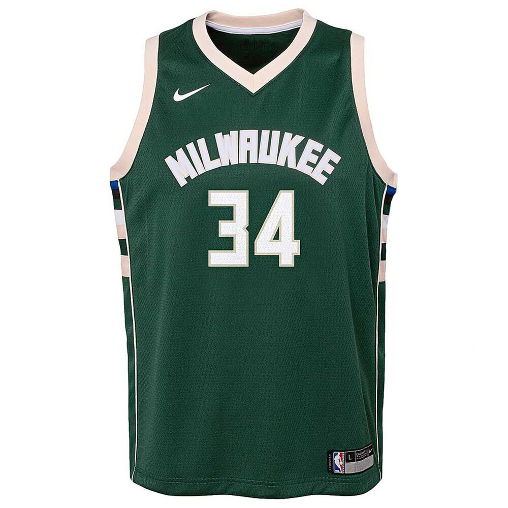 881957729fc Nike Milwaukee Bucks Giannis Antetokounmpo Icon Kids Swingman Jersey ...