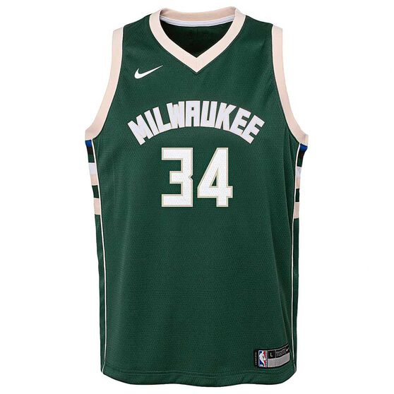 timeless design 60136 b0cc1 Nike Milwaukee Bucks Giannis Antetokounmpo Icon 2019 Kids Swingman Jersey  Green S