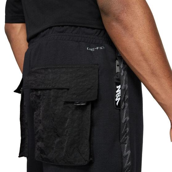 Jordan Mens Dri-FIT Zion Fleece Pants, Black, rebel_hi-res