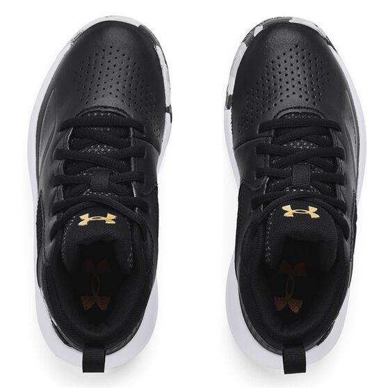 Under Armour Lockdown 5 Kids Basketball Shoes, Black, rebel_hi-res