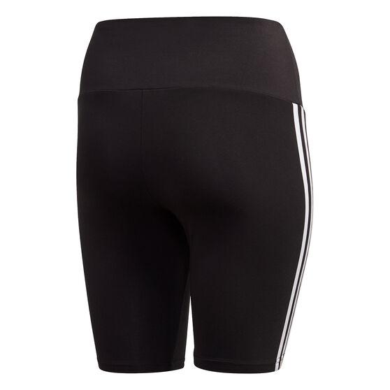 adidas Womens Must Haves Cotton Short Tights Plus, Black, rebel_hi-res