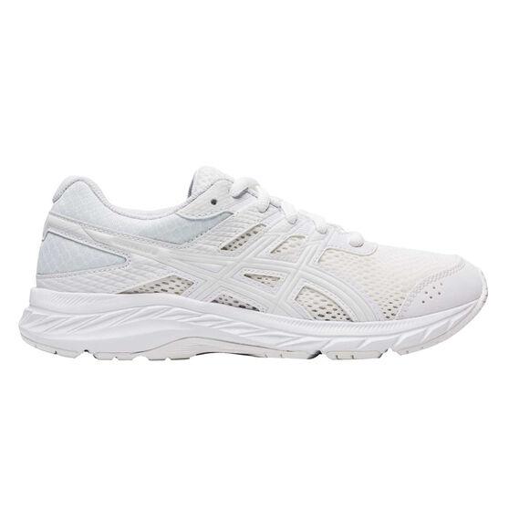 Asics GEL Contend 6 Kids Running Shoes White US 7, White, rebel_hi-res