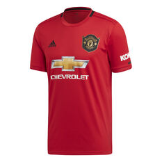 Manchester United 2019/20 Mens Home Jersey Red S, Red, rebel_hi-res