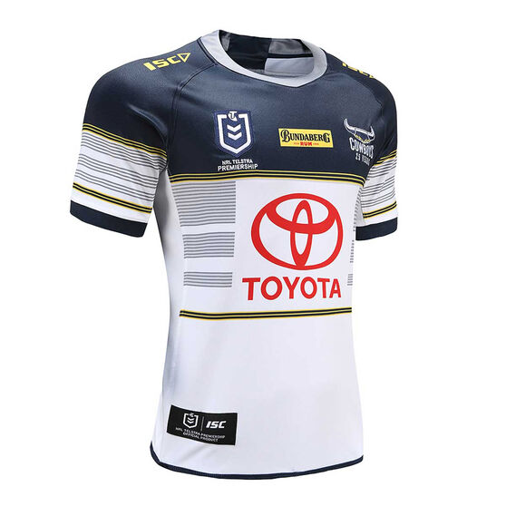 North Queensland Cowboys 2020 Mens Home Jersey, White / Navy, rebel_hi-res