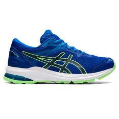 Asics GT 1000 10 Kids Running Shoes Blue/White US 1, Blue/White, rebel_hi-res
