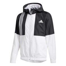 adidas Mens Axis Wind Jacket White S, White, rebel_hi-res