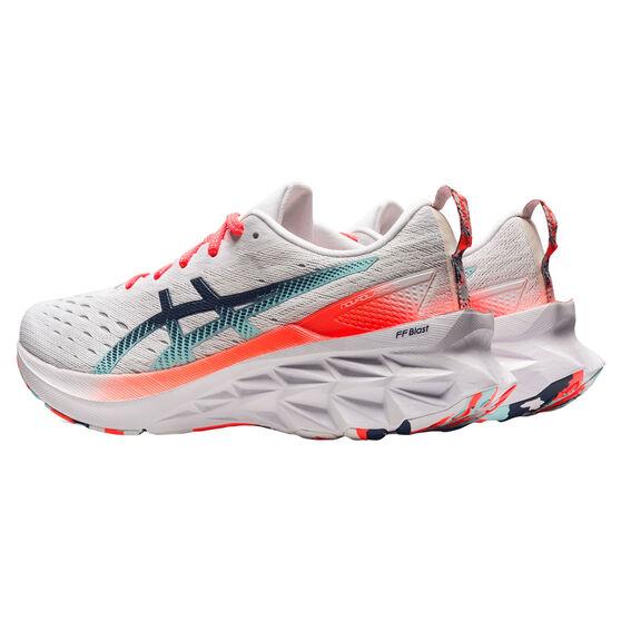 Asics Novablast 2 Celebration of Sport Womens Running Shoes, White/Coral, rebel_hi-res