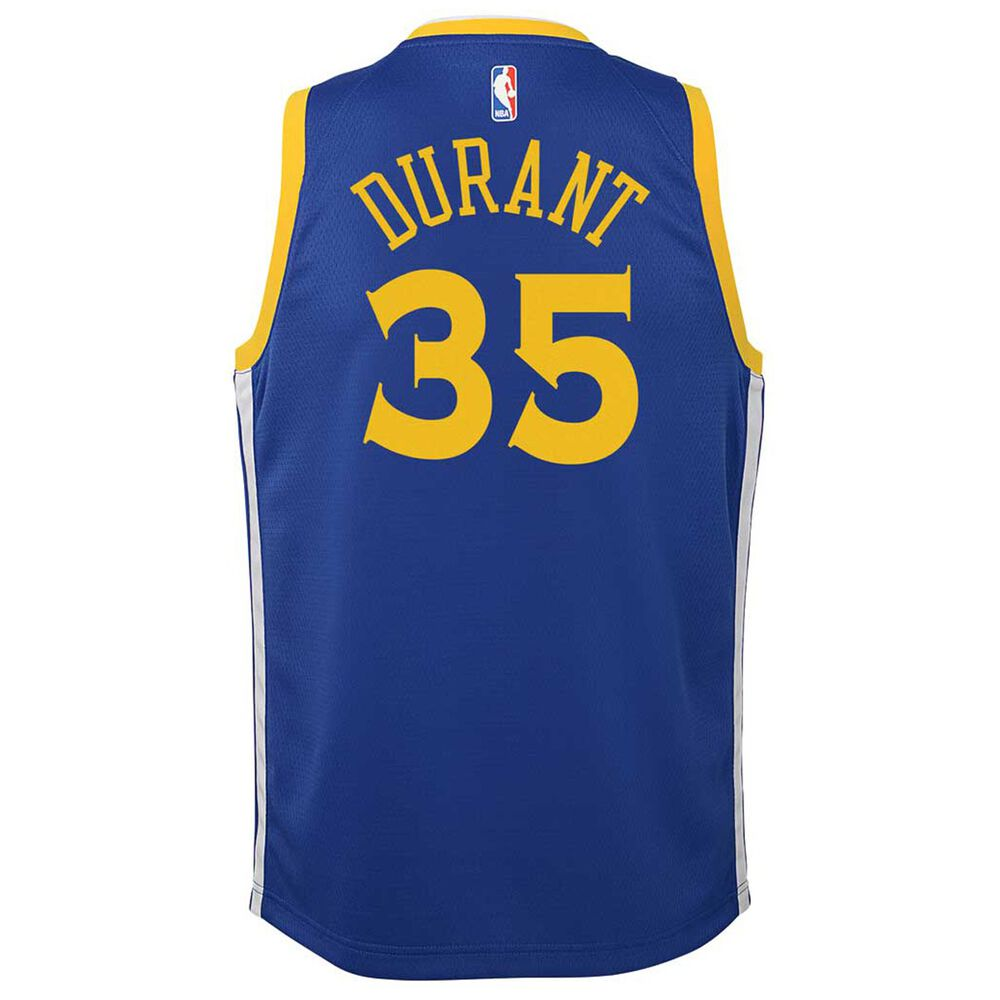 outlet store bc92c bdcd8 Nike Golden State Warriors Kevin Durant 2019 Kids Swingman Jersey