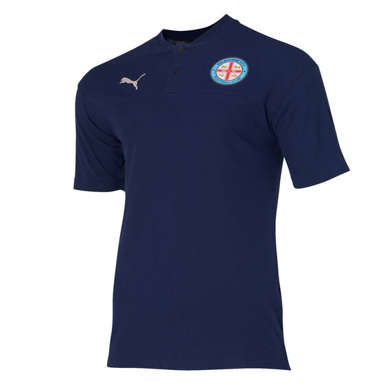 Melbourne City FC Mens Polo Navy L, Navy, rebel_hi-res