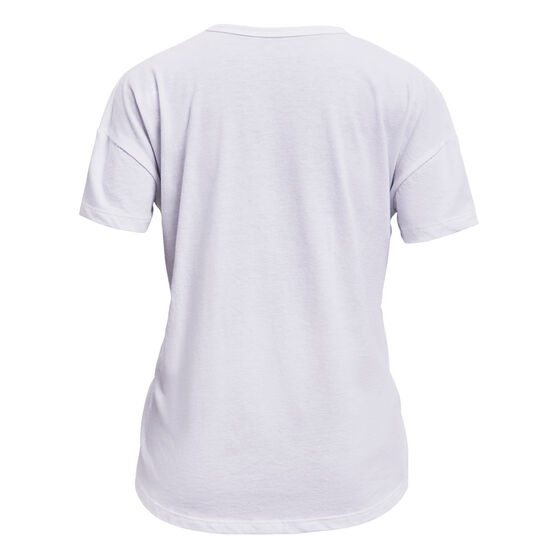 Under Armour Girls 25th Anniversary Graphic Tee, White, rebel_hi-res