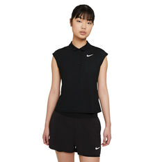 NikeCourt Womens Victory Tennis Polo Black XS, Black, rebel_hi-res