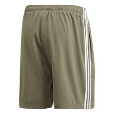 adidas Mens Essentials 3 Stripes Chelsea Shorts Green XS, Green, rebel_hi-res