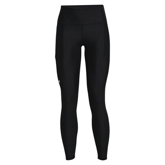 Under Armour Womens HeatGear No-Slip Waistband Full Length Tights, Black, rebel_hi-res