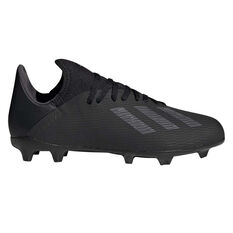 adidas X 19.3 Kids Football Boots Black / Silver US 11, Black / Silver, rebel_hi-res