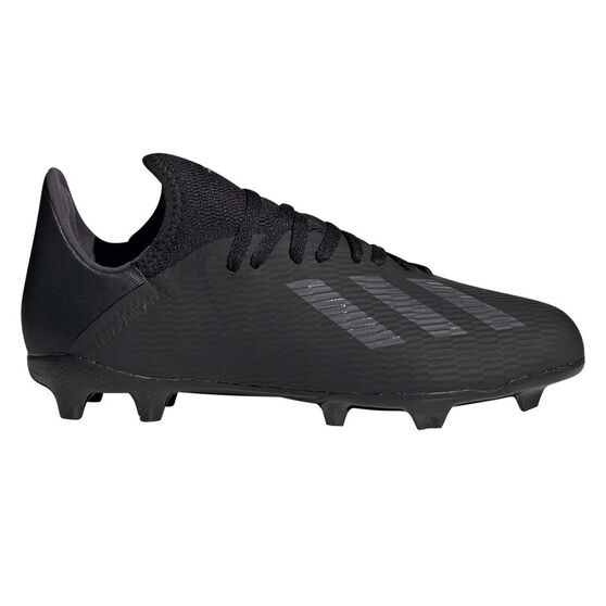 adidas X 19.3 Kids Football Boots, Black / Silver, rebel_hi-res