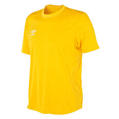 Umbro Mens League Knit Jersey Yellow S, Yellow, rebel_hi-res