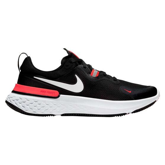 Nike React Miler Mens Running Shoes, Black/White, rebel_hi-res