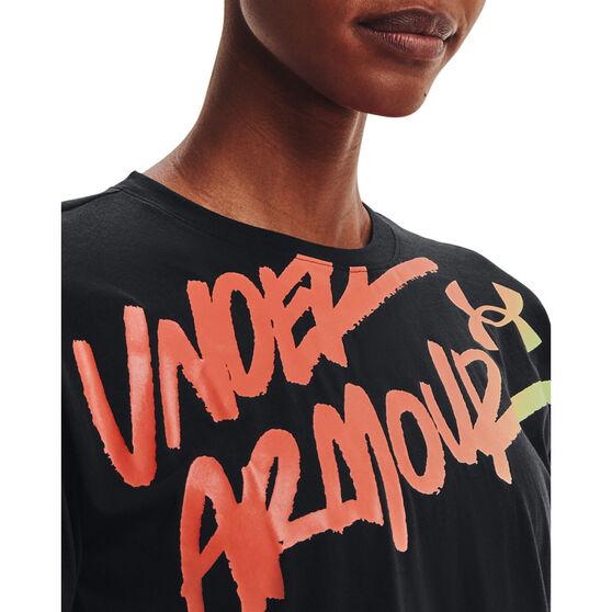 Under Armour Womens Chroma Graphic Tee, Black, rebel_hi-res