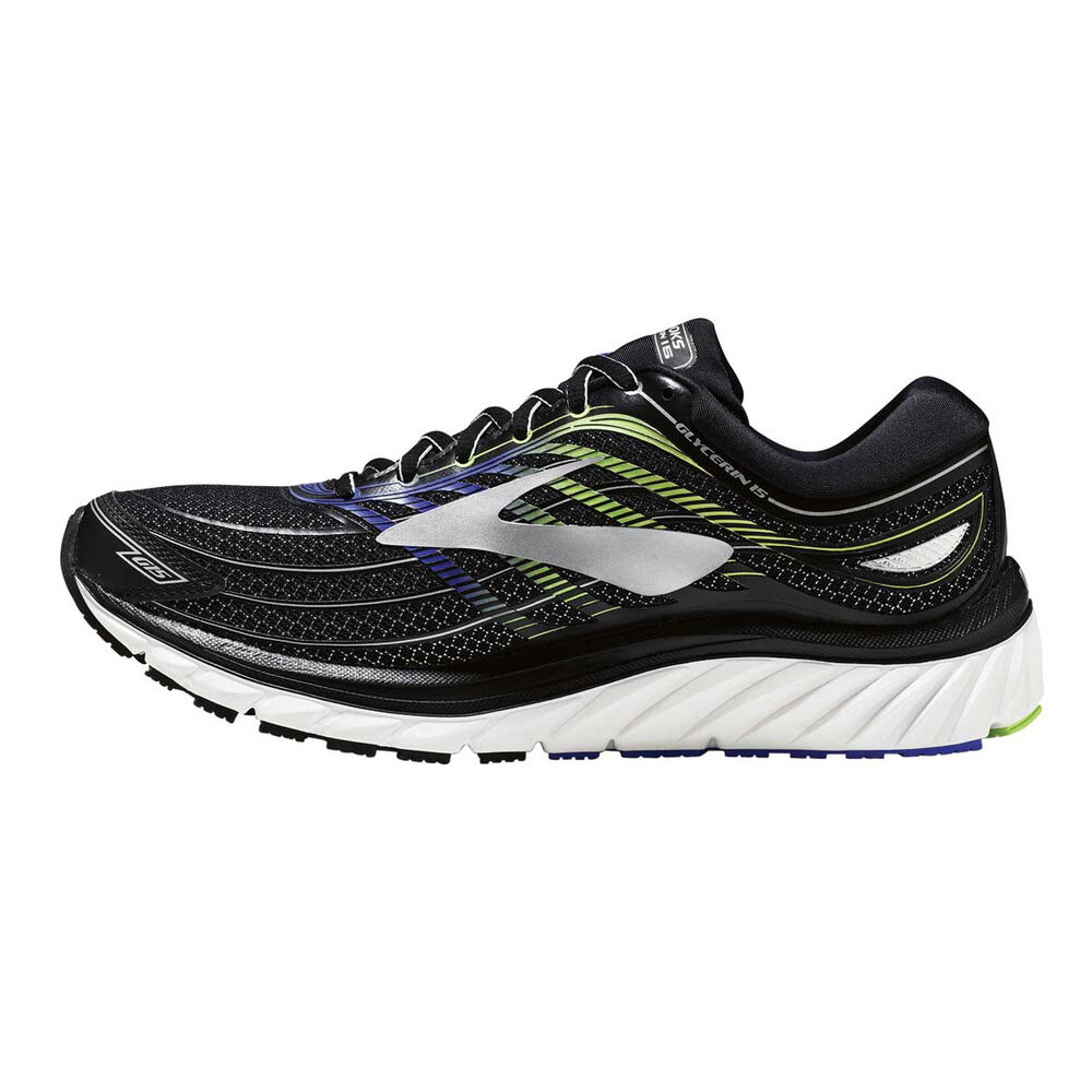 bbc07dd689764 Brooks Glycerin 15 Mens Running Shoes Black   Blue US 8