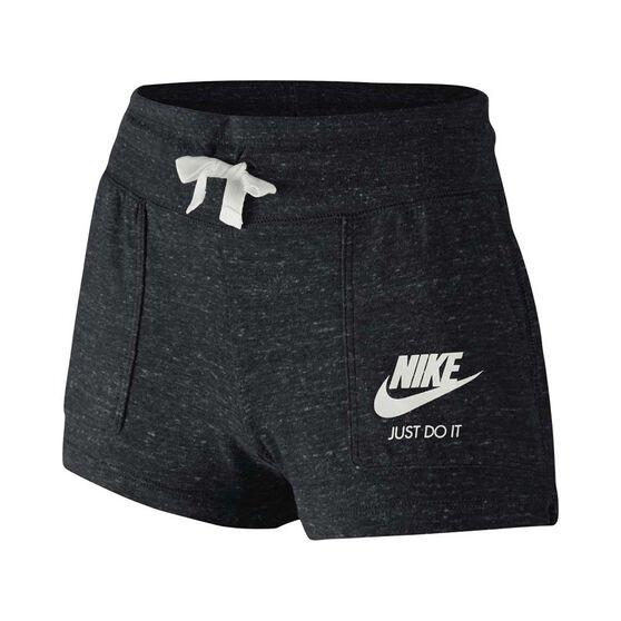 6fc6d4f254c Nike Girls Sportswear Gym Vintage Shorts Black / White XS, Black / White,  rebel_hi
