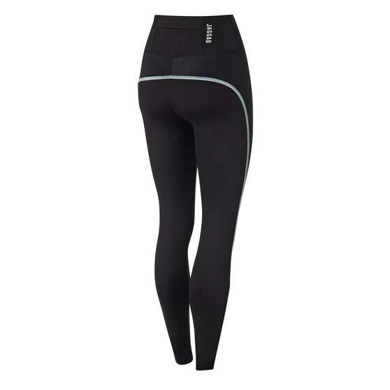 Jaggad Womens Fairmont Full Leggings Black XS, Black, rebel_hi-res