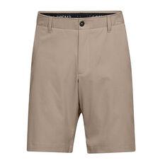 Under Armour Mens Showdown Golf Shorts Khaki 30, Khaki, rebel_hi-res