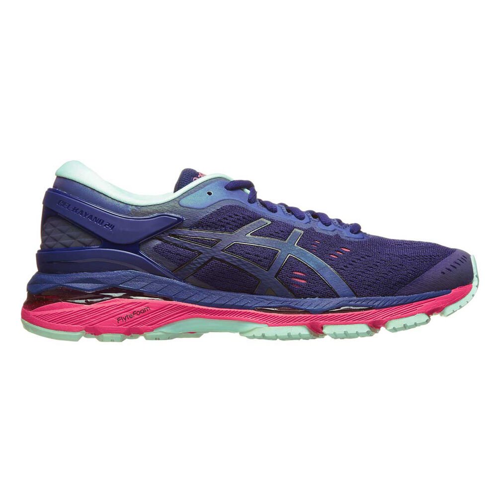 Asics Gel Kayano 24 Lite Show Womens Running Shoes Navy   Teal US 6 ... 029ce623dc
