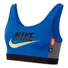 Nike Womens Icon Clash Sports Bra Royal Blue / Black XS, Royal Blue / Black, rebel_hi-res
