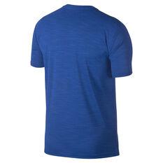 Nike Mens Superset Graphic Training Tee Blue / Navy S, Blue / Navy, rebel_hi-res