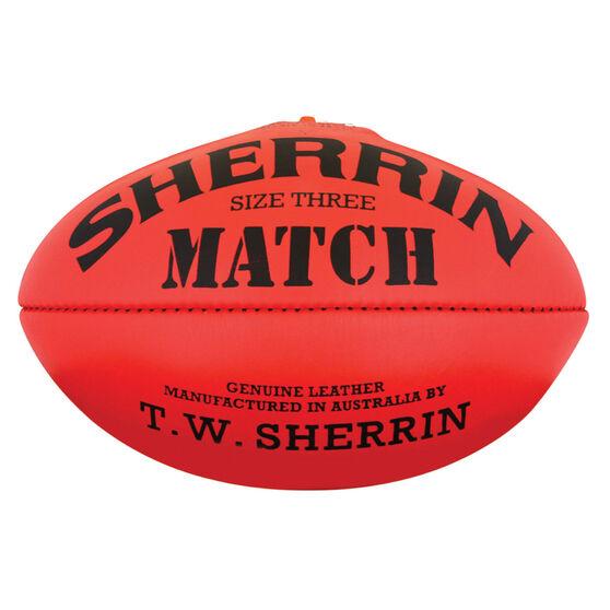 Sherrin Match Australian Rules Ball Red 3, , rebel_hi-res